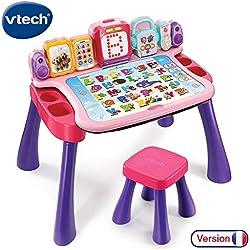 VTech - Magi bureau interactif 4 en 1 rose, avec fonction écriture, éducatif et évolutif