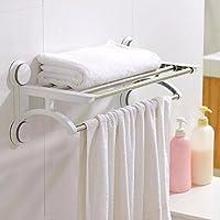 ZHGI Forte ventose in acciaio inox rack di stoccaggio su rack rack asciugamano da bagno asciugamano da bagno