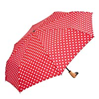 Compact Folding Umbrella with Wooden Duck Head Handle