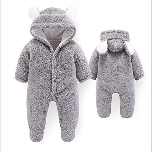 L-SLWI Baby Onesies - Neugeborene Unisex Baby Winter Overalls - Baby Klettern - Neugeborene Outfits,Gray Monat Onesies