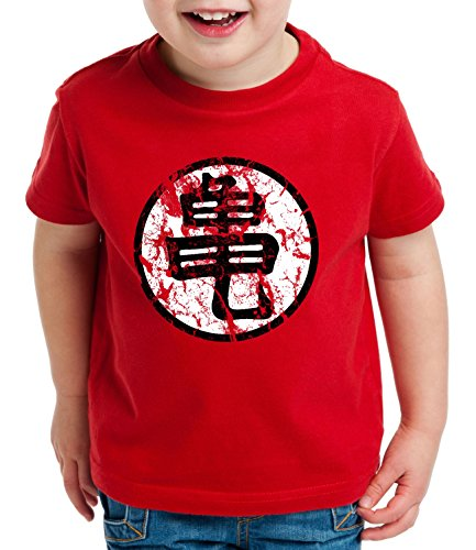 Sign Camiseta para Niños T-Shirt Goku Dragon Master Ball Vegeta Turtle Roshi Db, Farbe2:Rojo;Kinder T-Shirt Größe:134/146