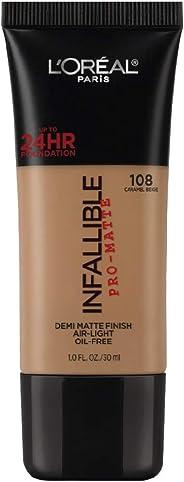 L'Oreal Paris Infallible Pro-Matte Foundation, Caramel Beige 108, 30g