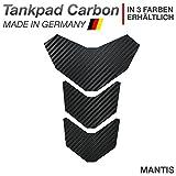 Motoking Tankpad 'CARBON MANTIS' Tankaufkleber, Tankschutz, Lackschutz, Aufkleber Pad für Motorrad Tank - in 3 Farben erhältlich - SCHWARZ