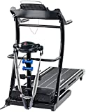 Newgen Medicals Fitnessgeräte: 2in1 Profi-Laufband LF-412.multi mit Fitness-Station und Bandmassage (Laufband mit Massageband)