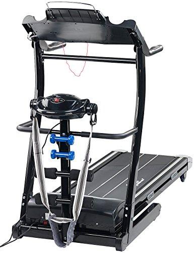 Newgen Medicals Laufbahn: 2in1 Profi-Laufband LF-412.multi mit Fitness-Station und Bandmassage (Fitnessgerät)