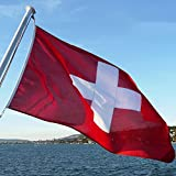 Schweiz Fahne 90 X 150cm, Moresave WM-Flaggen 2018 Polyester Wetterfeste Mehrfarbige Flaggen
