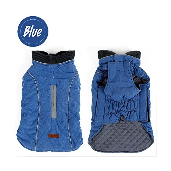 Cold Winter Dog Pet Coat Jacket Vest Warm Outfit Clothes for Small Medium Large Dogs 2