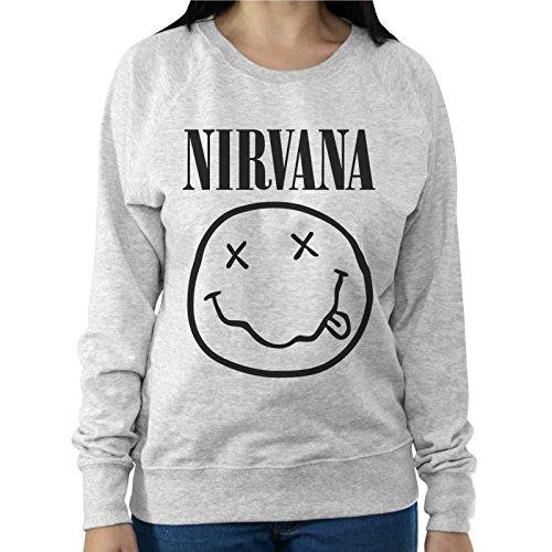 Felpa Leggera Donna Smile Nirvana Gruppo Musica Kurt Cobain