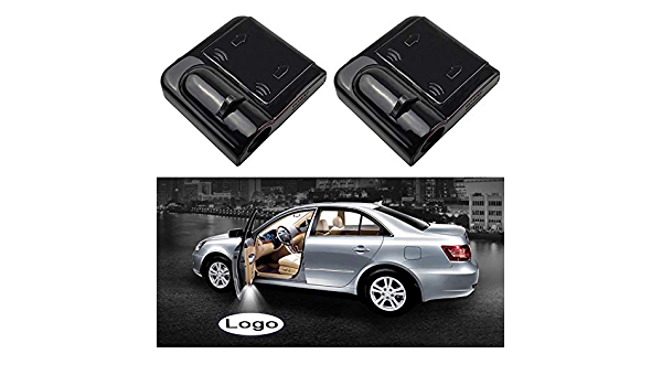 Color : Black Autot/ür Willkommenslicht Universal-Projektoren 4er-Pack LED-Projektor-T/ür-Schatten-Willkommens-Licht-Geist Courtesy-Logo-Emblem-Lampen-Set for BMW Cars