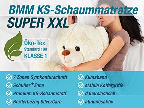 DIREKT VOM HERSTELLER - MADE IN GERMANY Matratze XXL Härtegrad 4 (H4) bis 150kg 90x200 Höhe 23cm | mit SilverCare Borderbezug | Klimaband für beste Belüftung | extra hart | hochwertig - 6