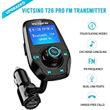Fm Transmitter For Car, Victsing T26 Bluetooth Radio Transmitter From Phone To Car, Fm Stereo Transmitter Kit For Music, Mp3 Player Fm Modulator With 5V 2.1A USB Charger, 1.44 Inch LCD Display, 3 Playing Modes, Wireless Fm Broadcasting, Aux Car Audio Fm A