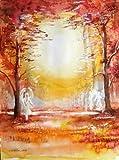 silwi-art***** Engelbild Schutzengelbild Engelkarte xl Geschenk Kunstfoto Engel im Lichtwald signiert und limitiert