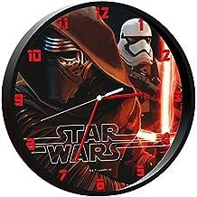 Star Wars - Reloj de pared, color negro (Kids SWE-7010)