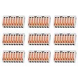 KKmoon Morsetto per 8 Conduttori con Leve di Bloccaggio, Connettore per Conduttore Compatto, Morsettiera Cavo Connettore Rapido -- 8 Porte 9Pz