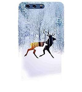 For Huawei P10 Plus barsinga ( barsinga, deer, jungle, winter, tree, ice ) Printed Designer Back Case Cover By TAKKLOO