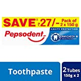 #9: Pepsodent Germi Check Cavity Protection - 150g (Pack of 2, with Save Rupees 27/-)