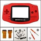 Ersatz-Gehäuse für Nintendo Game Boy Advance GBA AGS 001, Rot