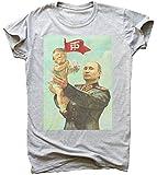 Trump and Putin Friendship Soviet Style Poster Herren T-Shirt Medium