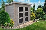 Alpholz Gent Gerätehaus Holz mit Boden | Gartenhaus Klein mit Dachpappe | Geräteschuppen naturbelassen Ohne Farbbehandlung (225 x 210)