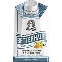 Califia Farms - Mejor mitad de crema de coco y leche de almendras crema de vainilla
