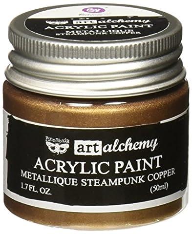 Prima Marketing finnabair Art Alchemy Peinture acrylique fluide 1,7ounces-metallique Steampunk