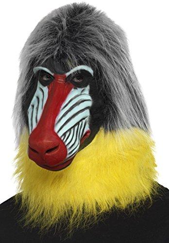 SMIFFY 'S 47124Baboon Maske, grau, one size