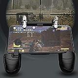 Fcostume Mobile Game Controller Sensitive Shoot und Ziel Joysticks Gamepad-Griff für PUBG (Schwarz)