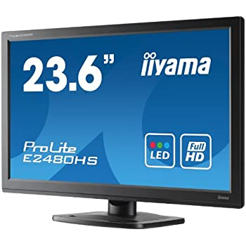 Iiyama E2480HS-B1 59,9 cm (23,6 Zoll) widescreen TFT-Monitor (LED, HDMI, DVI, VGA, 2ms Reaktionszeit)
