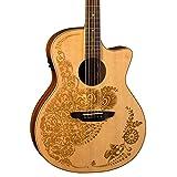 Luna Guitars HEN O2 SPR Henna Oasis Elektro-Akustische Gitarre spruce