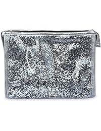 SHINE – Neceser impermeable con exterior de purpurina (20 x 15 x 6 cm) - Plateado