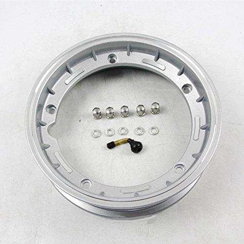 Rabusion Cerchi in alluminio Cerchi in Vespa PX 125 150 200 LML Star T5 rally 10'(Silver)