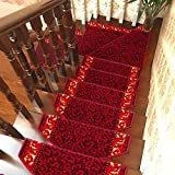 YUJIE Treppenmatten Treppenstufenmatten 15-teiliges Set Mehrere Farben Langlebig Rutschfester Schutz Große Treppenmatten Teppichschutzpolster Für Treppen,B-65 * 24CM