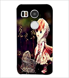 PrintDhaba Cute Doll D-1040 Back Case Cover for LG NEXUS 5X (Multi-Coloured)