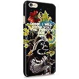 Star Wars Darth Vader Floral Pretty Side iPhone 6/6S plástico duro Teléfono cubierta de la caja