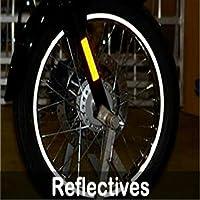StickersLab - Strisce Moto adesive cerchi rifrangenti riflettenti marca 3M™ stripe for wheel 7mm x 6MT (Nero)