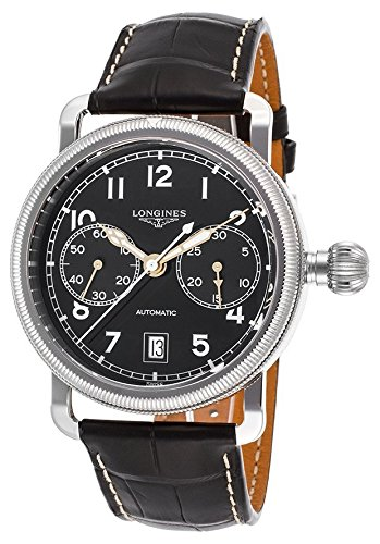 Longines Heritage Avigation Herren-Armbanduhr 41mm Armband Leder Gehäuse Edelstahl Automatik L2.783.4.53.2