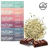 nucao Veganer Bio Superfood Riegel - Mixed Box - Nährstoffreiche Vegane Schokolade aus Hanfsamen & Roh-Kakao, 480 g