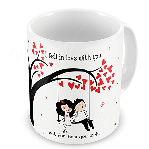 Valentine Gifts For Boyfriend Girlfriend White Couple Together Swing Fell  In Love U0026 Pink Kiss Me