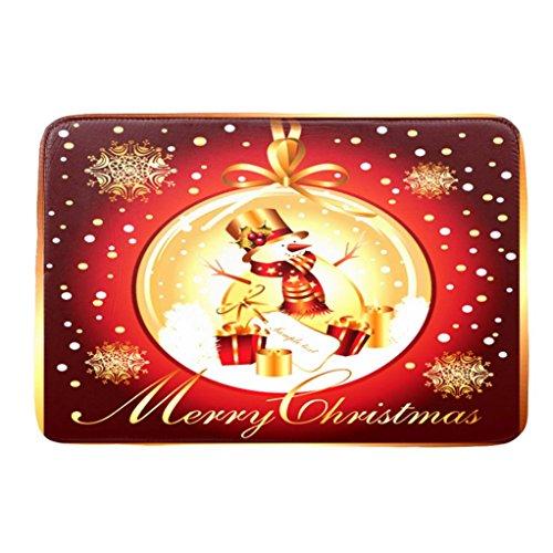Badematten Set Clode® Rutschfeste Badematte Matte für Badewanne und Dusche Weihnachts dekoration 40*60cm (E)