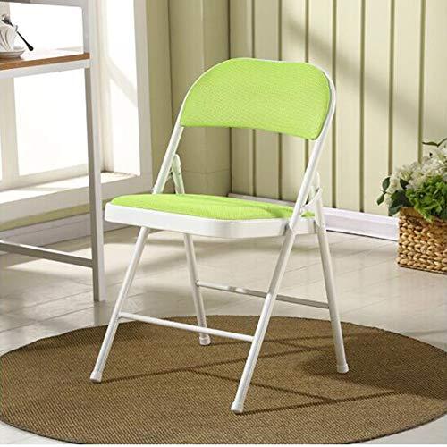 Stühle WX Xin Klappstühle Klappstühle Stahlrahmen Gepolstert Premium-Stoff Sitz 480 lbs Kapazität Klappstuhl Strandkörbe (Color : Green) - Gepolsterte Hocker Schaukelstuhl