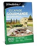 Wonderbox – Coffret cadeau couple ESCAPADE GOURMANDE EN AMOUREUX – 185 séjours gourmands en manoirs, hôtels de charme, maisons d'hôtes authentiques pour 2 personnes avec diner et petit-déjeuner