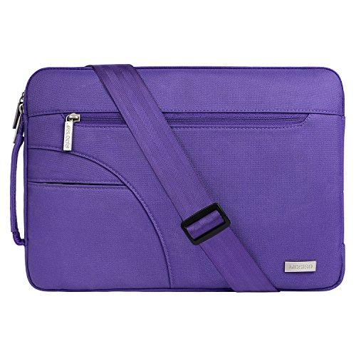MOSISO Laptoptasche Kompatibel 13-13,3 Zoll MacBook Pro, MacBook Air, Notebook Computer, Laptoptasche Sleeve Hülle Polyester Stoßfeste Umhängetasche Notebooktasche mit Handgriff, Ultra Violet