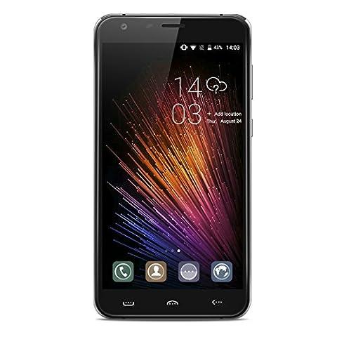HOMTOM HT30 Pro 4G LTE Smartphone Android 7.0 (3GB RAM 32GB ROM, 5.5 Zoll HD Screen, 8MP + 5MP Dual Kamera, Dual SIM Handy ohne vertrag, 3000mAh Akku, Fingerabdruck) - (Unlocked Gsm-bluetooth-kamera-telefon)