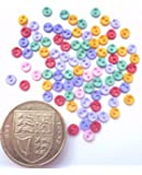 Micro Flirt 4mm - Novelty Craft Buttons & Embellishments by Dress It Up