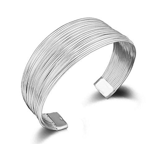 Hosaire Armband Mode Multiline Bracelet Bangle Silber Weiße Armband Zusätze Legierung Schmuck Zubehör