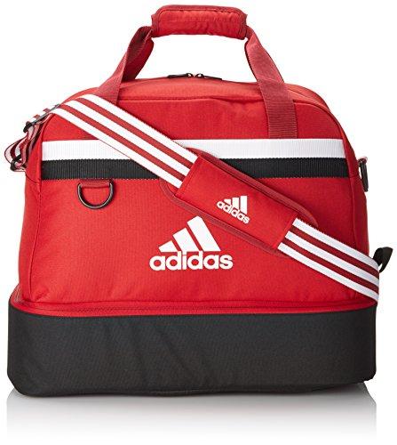 Adidas, Borsa Tiro 13 Teambag, con scomparto inferior, Rosso (Rot), 54 x 27 x 28 cm, 64 litri