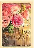 A4 XXL Geburtstagskarte Rosen vintage romantisch