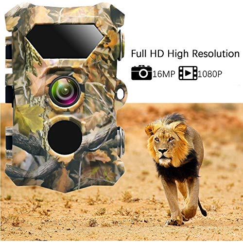 RENYAYA Fotofallen Trail Jagdkamera 12MP 1080P Wildlife Scout Guard Hunter Camera mit Night Vision Trail Camera for Game Hunt Digital Scout Cam
