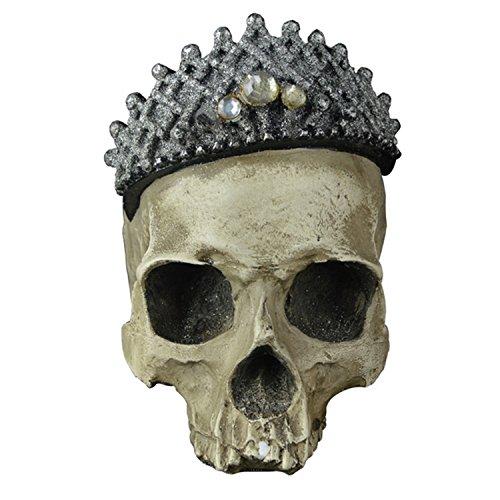 Schädel, Trocken Schädel Kopf Modell Deko, Totenkopf Halloween/Room Escape Requisiten/Spukhaus Dekoration, circa 14 * 15cm (Lebensgroße Halloween Requisiten)