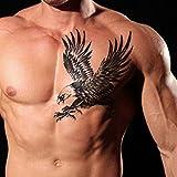 TAFLY Männer vorübergehenden Tattoos Flügel Muster Transfer Tattoo Aufkleber für